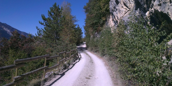 Erster Teil des Aufstiegs ab Santel