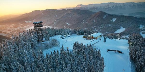 Bergstation Skigebiet Semmering