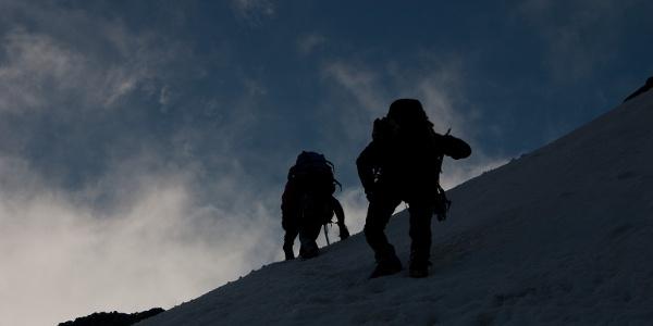 Steiler Aufstieg zur Furcola Prievlusa