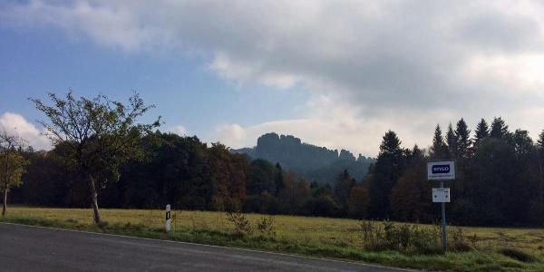 Blick von Ostrau zum Falkenstein
