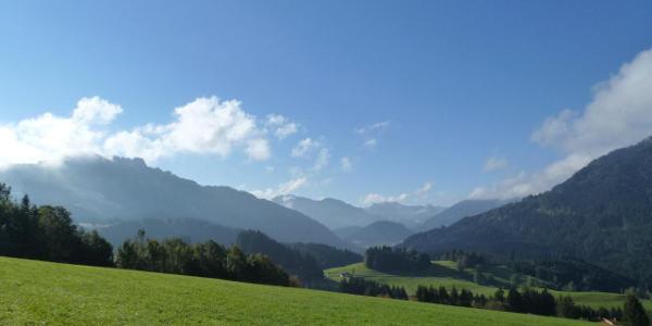 Aussicht vom Höhenweg nach Oberjoch