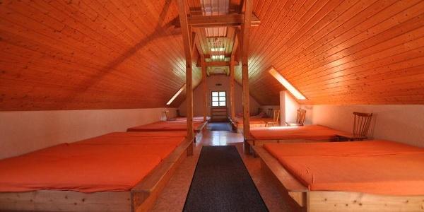 Schlafraum Lettenbronner Hütte