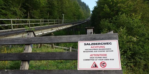 Ausgangspunkt der Tour ist bei der Standseilbahn auf den Salzberg