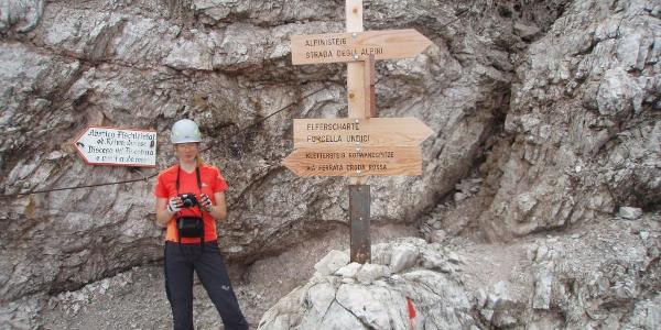 Alpinisteig, unterh. der Sentinellascharte