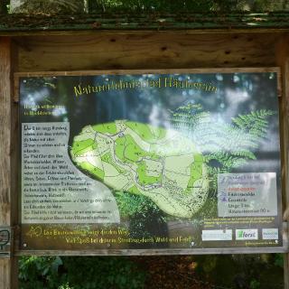 INFO-Tafel des Naturlehrpfades
