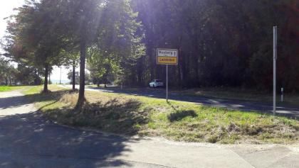 Startpunkt Ortsausgang Oberaichen Richtung Musberg