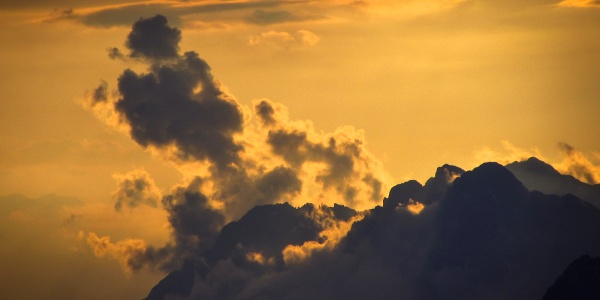 Wolkenspiele an den Loferer Steinbergen