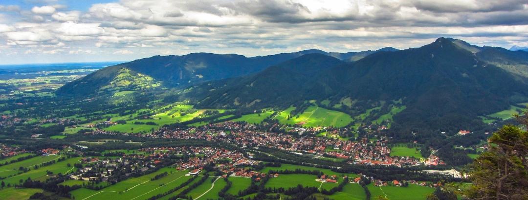 Blick vom Waxenstein nach Lenggries