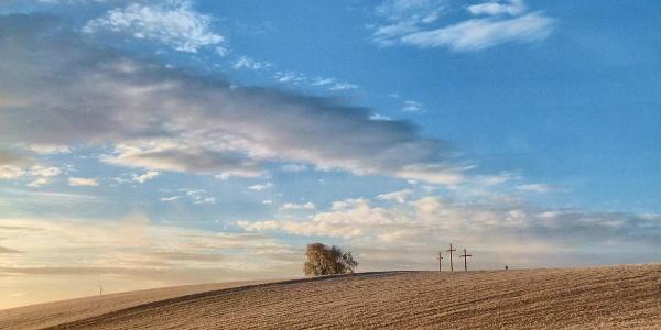 """Wetterkreuze am """" Wetterkreuz-Riegel"""" (Copyright: Karl Gradwohl)"""