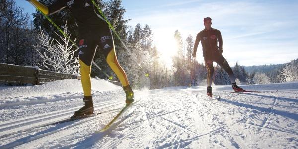 Skating auf Flutlicht-Loipe in Obertal