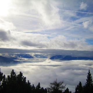 Blick Richtung Süden, links der Patscherkofel