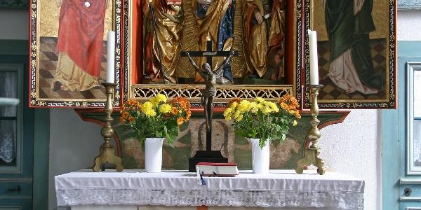 Peter-Breuer-Altar in der Kirche Steinsdorf