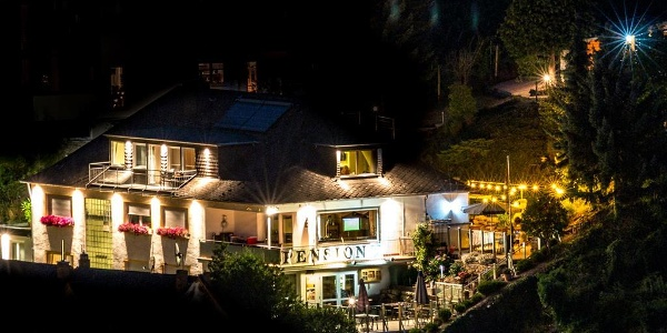Villa Tummelchen Nachtaufnahme