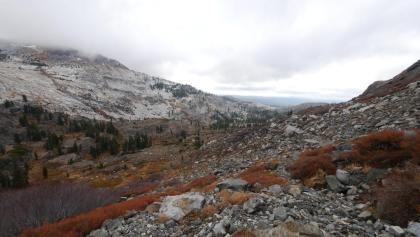 View from Rockbound Pass toward Maud Lake