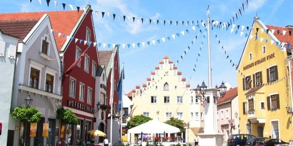 Altstadt von Abensberg im Hopfenland Hallertau