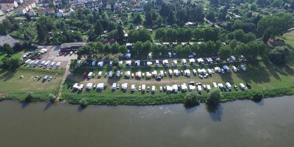 Luftbild Campingplatz Hameln