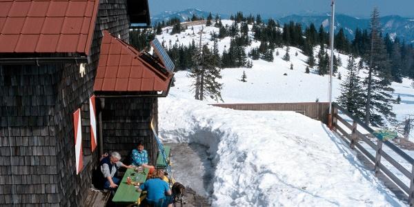 Die Terrasse des (alten) Annaberger Hauses