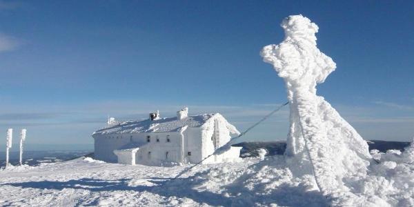 Tiefster Winter beim Alois-Günther-Haus