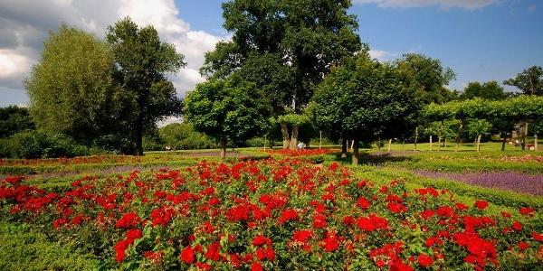 Beete und Baumbestände im Schlosspark Bad Bentheim