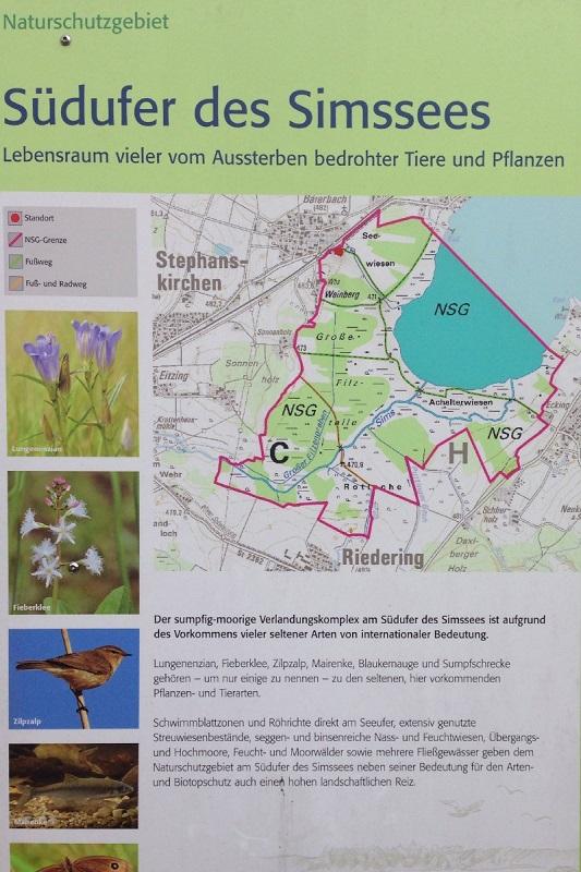Infotafel NaturInfoschutzgebiet Simssee