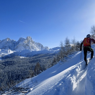 The beautiful view on Pale di San Martino mountains