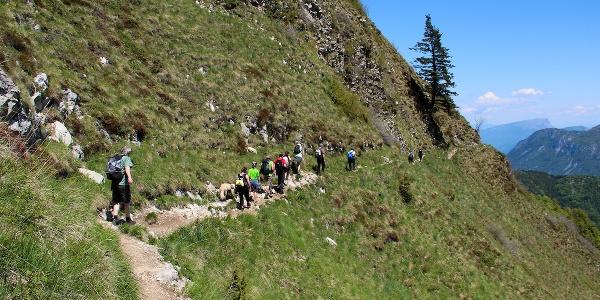 Von der Bocca Saval Richtung Berghütte Pernici