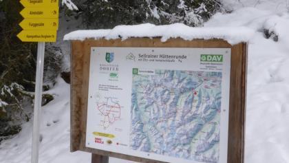 Die Infotafel am Zustieg zur Potsdamer Hütte.