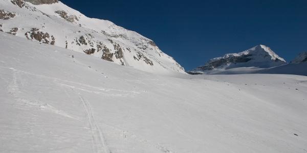 Am Gletscher öffnet sich der Blick zum Schrammacher