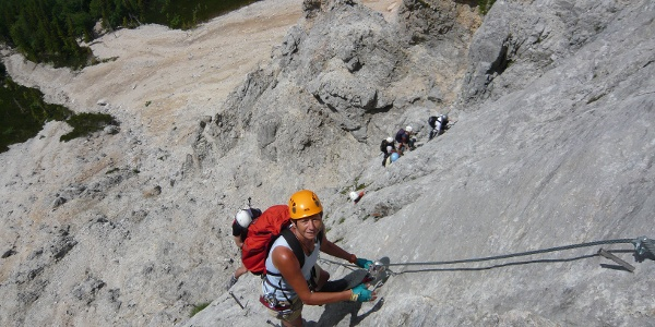 Haidsteig: Steile Plattenzone im Einstiegsbereich