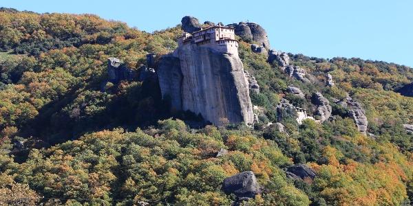 tolle Aussicht während der gesamten Tour: Roussanou Monastery