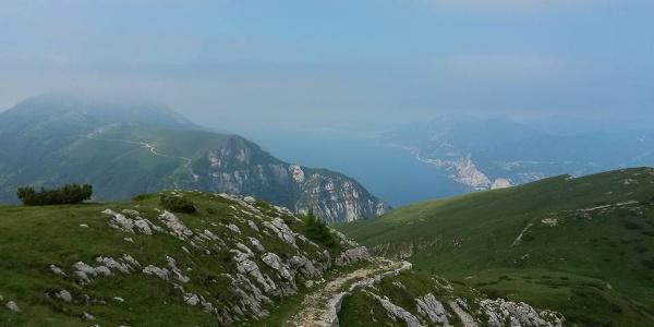 The trail on the Monte Baldo
