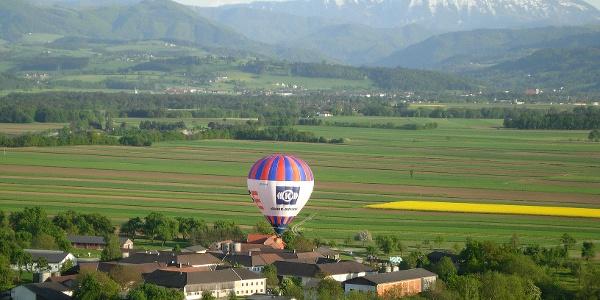 Mit dem Ballon übers Mostviertel fliegen