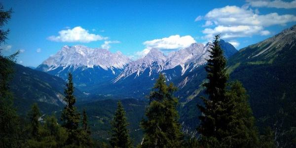 Aussicht von der Loreahütte (6. August 2012)