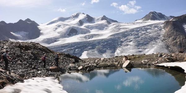 Das Ziel vieler Gäste des Taschachhauses: Die Wildspitze - höchster Gipfel Tirols