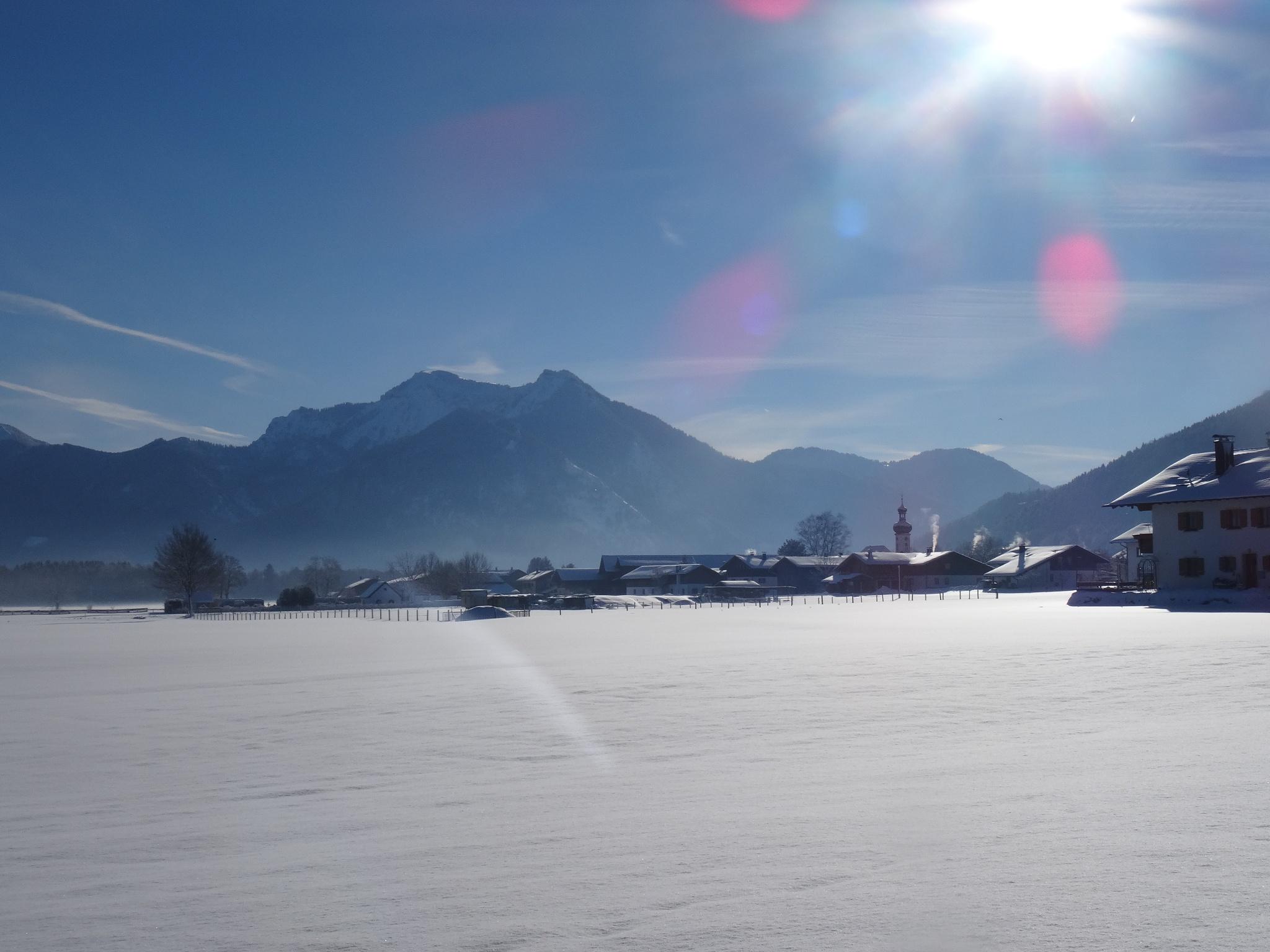 Blick auf Rottau im Chiemgau