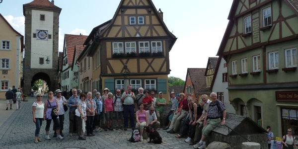 Pilgergruppe in Rothenburg