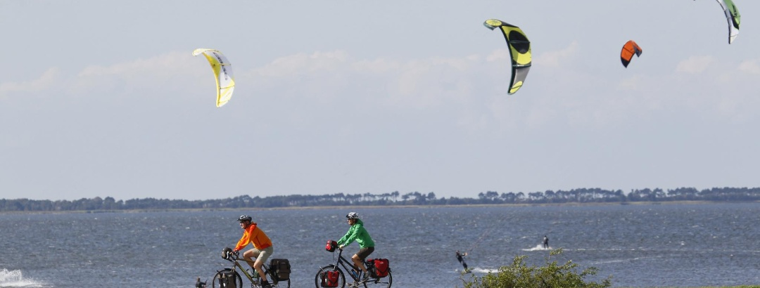 Radfahrer auf der Insel Ummanz