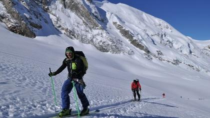 Auf dem Weg zum Col du M. Brulé