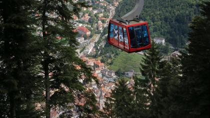 Bergbahn aus der Stadt zum Churer Hausberg Brambrüesch