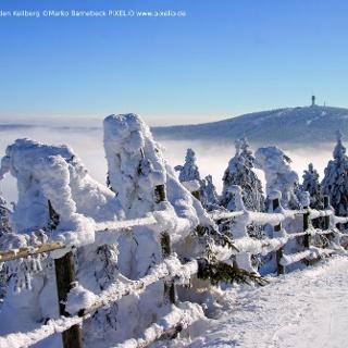 Blick vom Fichtelberg auf den Keilberg
