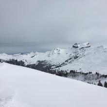 Gipfelausblick zum Drues- und Forstberg.