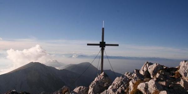Am Gipfel des Hochstuhls
