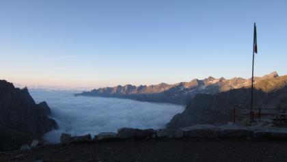 sehr schöne Morgenstimmung am Refugio Gianetti