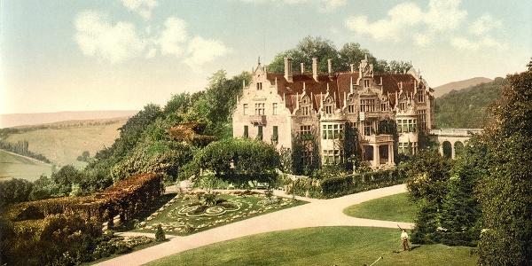 Postkarte vom Schloss Altenstein, Photoprint 1890-1900