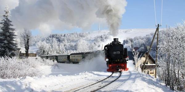Fichtelbergbahn mit Winterdampf