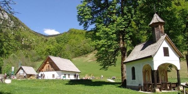 Rosaliakapelle und Jagahäusl im Bodinggraben