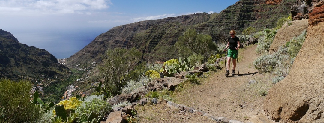 Por la ruta panorámica en lo alto del Valle Gran Rey