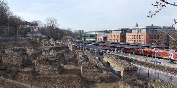 Überreste des Römischen Theaters in Mainz