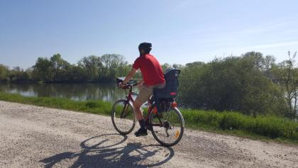 Pedalling the river path