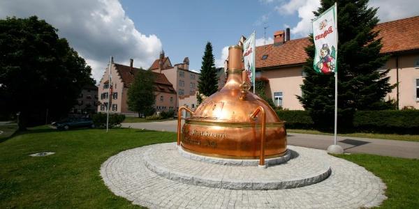 Kupferkessel an der Rothaus Brauerei